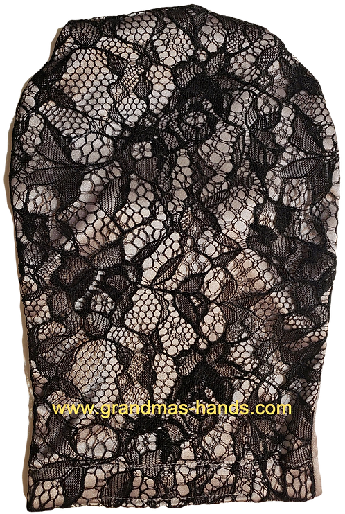 Black Lacy - Adult Satin Ostomy Bag Cover