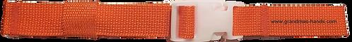 Dark Orange Belt with White Buckle - Insulin Pump Pouch Belt