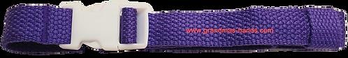 Purple Belt with White Buckle - Insulin Pump Pouch Belt