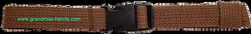 Medium Brown Belt with Black Buckle - Insulin Pump Pouch Belt