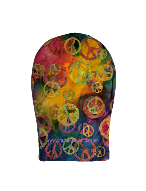 Multi-Coloured Peace - Adult Ostomy Bag Cover