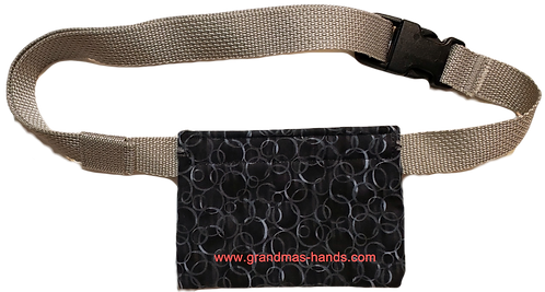 Black with Grey Bubbles - Allerject™/Auvi-Q™ Pouch