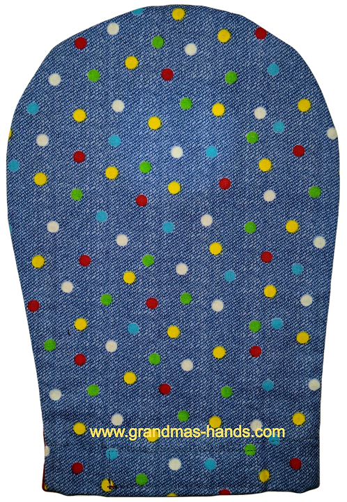 Denim Dot - Adult Ostomy Bag Cover