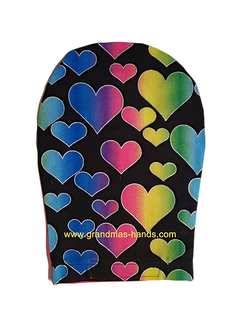 Multi Coloured Hearts - Adult Ostomy Bag Cover