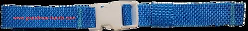 Light Blue Belt with White Buckle - Insulin Pump Pouch Belt