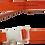 Thumbnail: Dark Orange Belt with White Buckle - Insulin Pump Pouch Belt