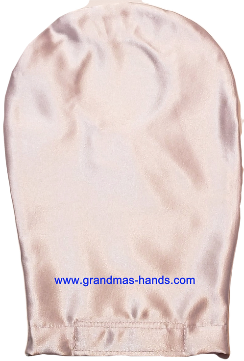 Off White - Adult Satin Ostomy Bag Cover
