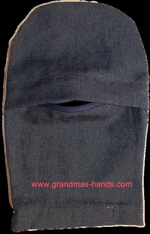 Light Denim Zippered - Adult Peek-a-Boo Ostomy Bag Cover