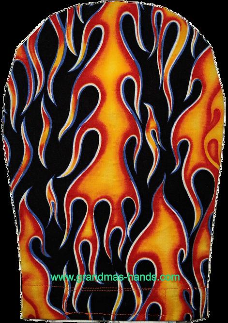 Orange Flame -  Adult Ostomy Bag Cover