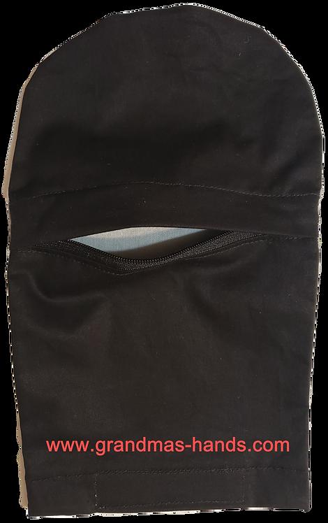 Black Zippered - Adult Peek-a-Boo Ostomy Bag Cover