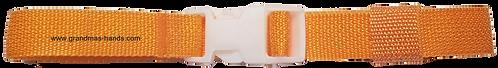 Light Orange Belt with White Buckle - Insulin Pump Pouch Belt