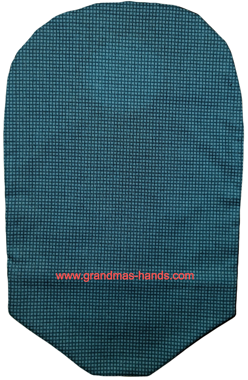 Teal Squares - Adult Urostomy Bag Cover