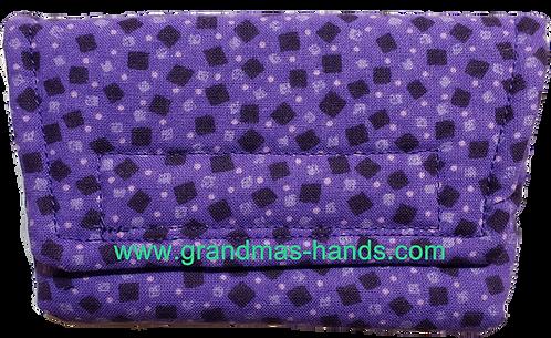 Black Squares on Purple- Insulin Pump Pouch