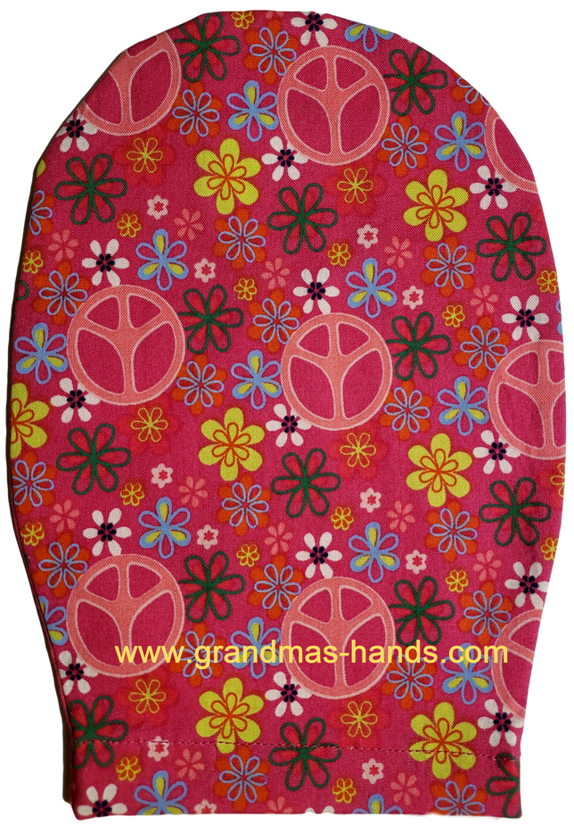 Pink Peace Childrens Ostomy Bag Cov