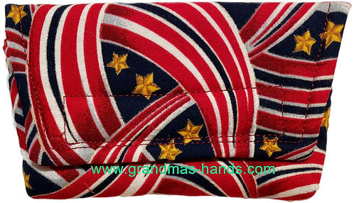 Gold Stars and Stripes - Insulin Pump Pouch
