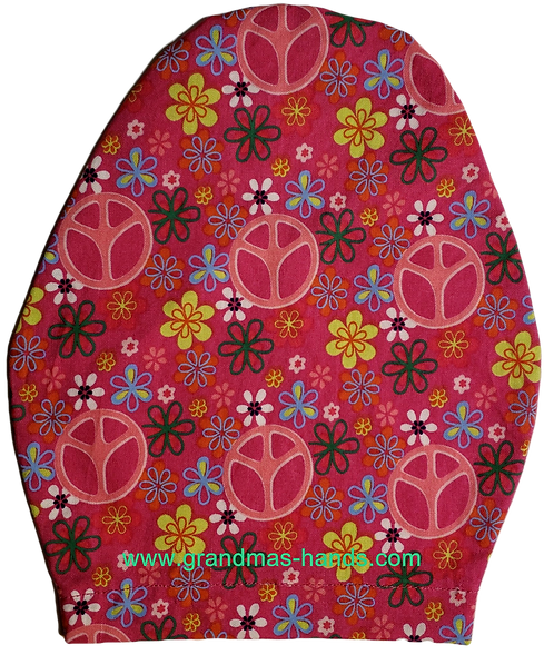 Pink Peace - Children's Urostomy Bag Cover