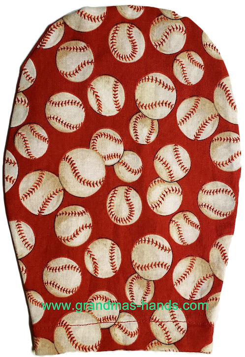 Baseballs on Red - Childrens Ostomy Bag Cover