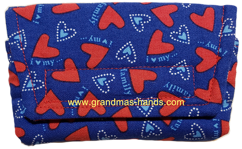 Red Hearts - Insulin Pump Pouch