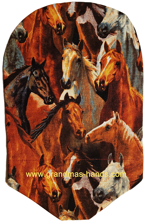 Horse Heads - Adult Urostomy Bag Cover