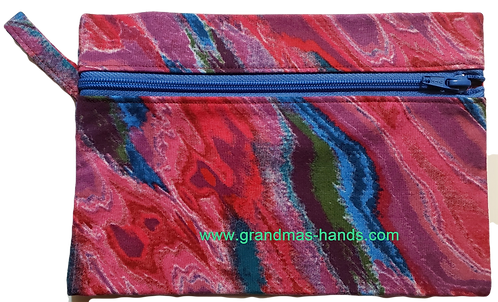 Red Swirls Diabetic Accessory Carrying Case