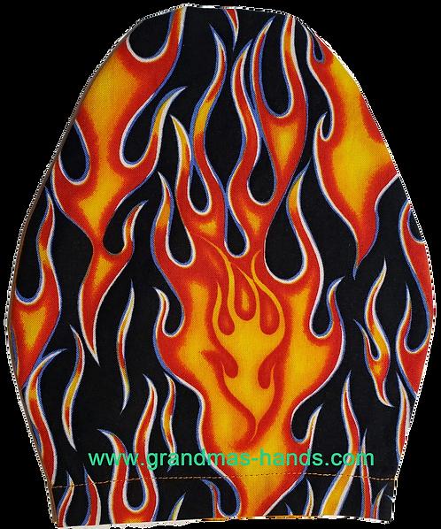 Orange Flame - Children's Urostomy Bag Cover