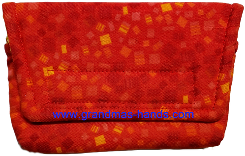 Red and Yellow Square  - Insulin Pump Pouch