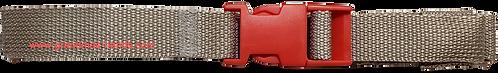 Grey Belt with Red Buckle - Insulin Pump Pouch Belt