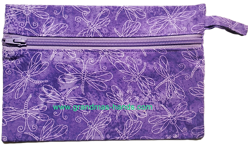 Purple Dragon Flies Diabetic Accessory Carrying Case