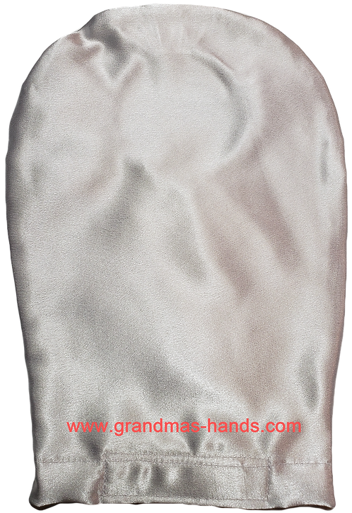 White Satin - Adult Stretchy Ostomy Bag Cover