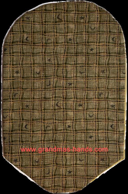 Olive Squares - Adult Urostomy Bag Cover