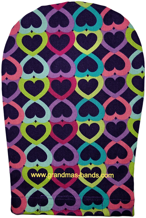 Row of Hearts - Adult Ostomy Bag Cover