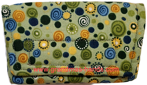 Olive Green Circles - Insulin Pump Pouch