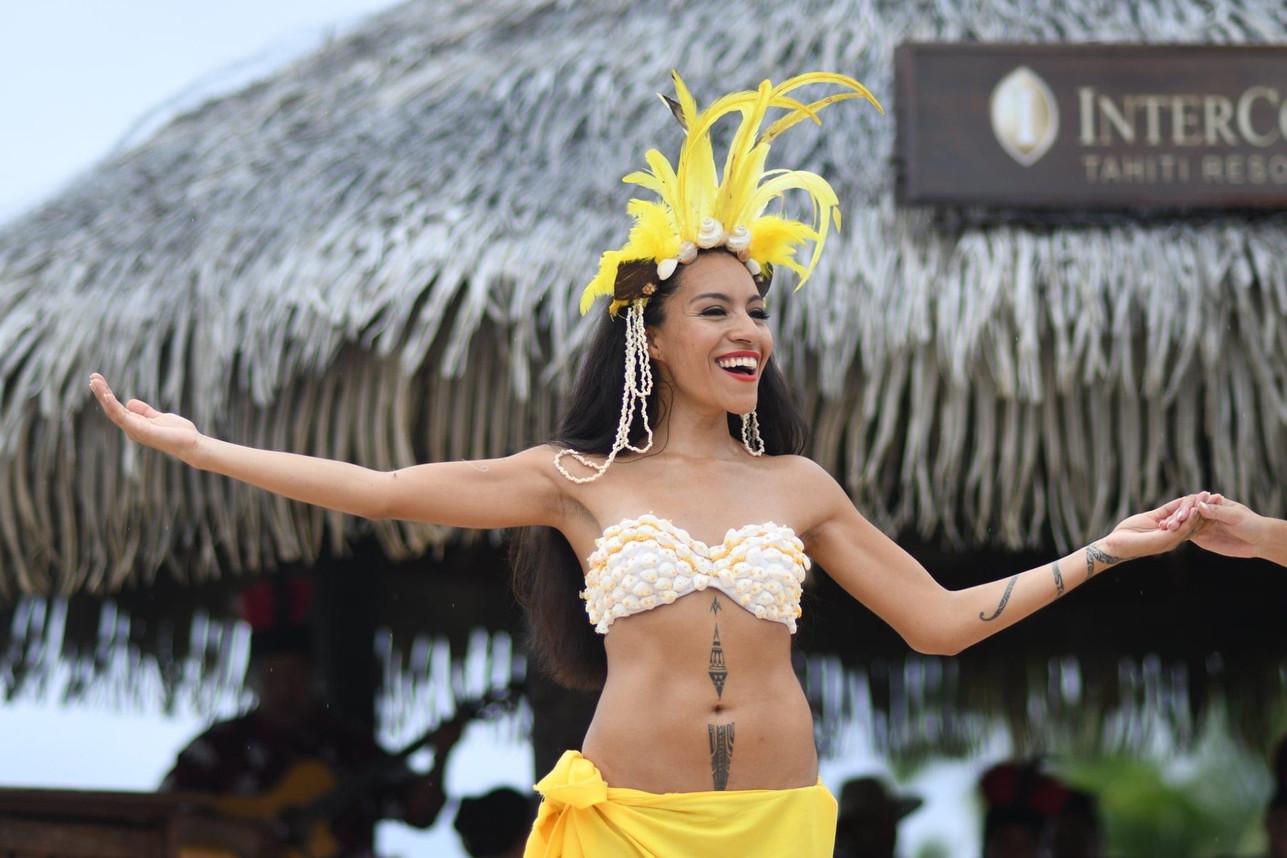 Spectacle de Hei Tahiti dans le Intercontinental Resort