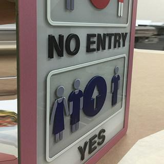 UV printed sign