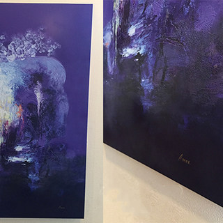 UV printed canvas