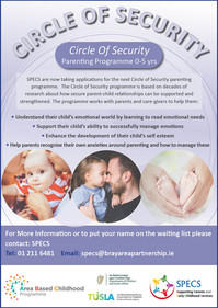 The Circle of Security programme will help parents build secure emotional bonds with their children