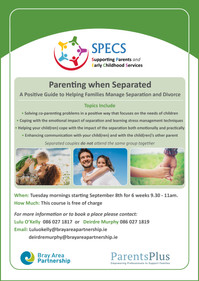 SPECS will be running their Parenting When Separated Programme again soon.
