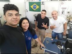 Ruben,Dra Gislaine, Weslei e Thiago. Família Pacem.