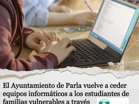 El Ayuntamiento de Parla vuelve a ceder equipos informáticos a estudiantes de familias vulnerables