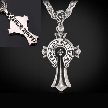 Celtic Cross - Chrome Heart - Necklace