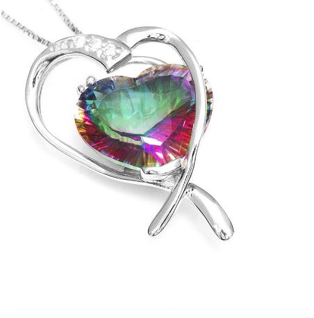 10 carat ~ Double heart pendant