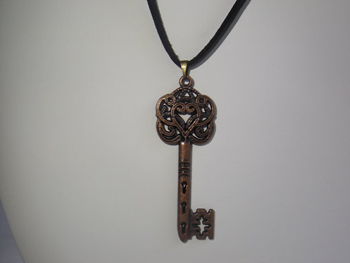 Antique Key Necklace Rounded