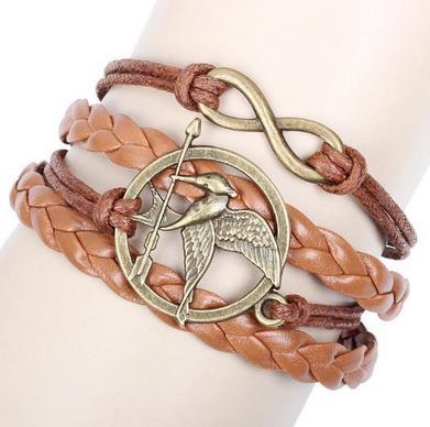 Mockingjay Bracelet Infinity Leather Collab Cute B
