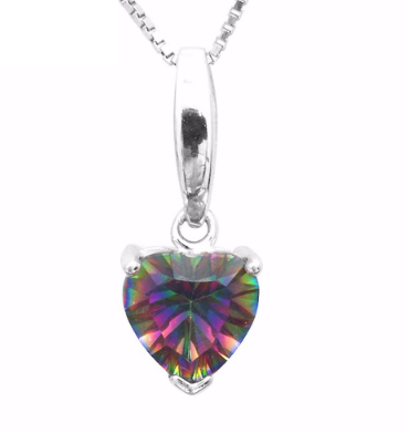 1.6 carat ~ Heart-shaped drop pendant