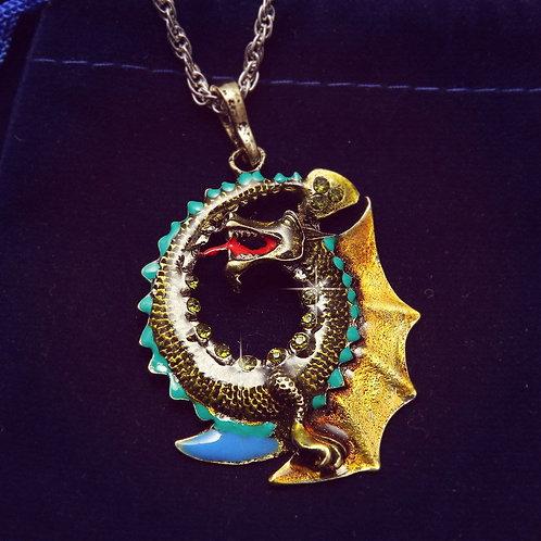 Dragon Decorative Pendant Necklace Large Cute