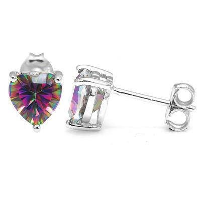 2.9 carat ~ Heart shaped earrings
