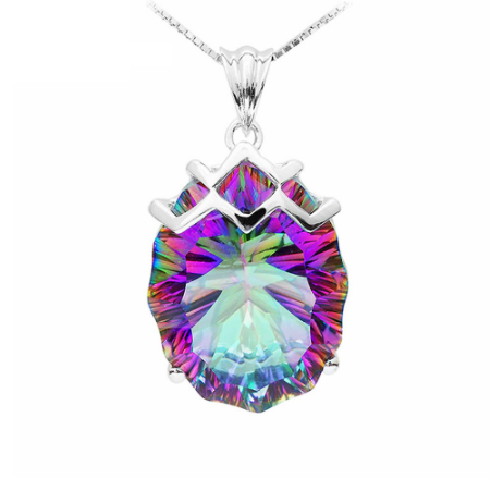 21 carat ~ Chevron oval pendant