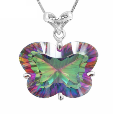 27 carat ~ Butterfly-shaped concave pendant