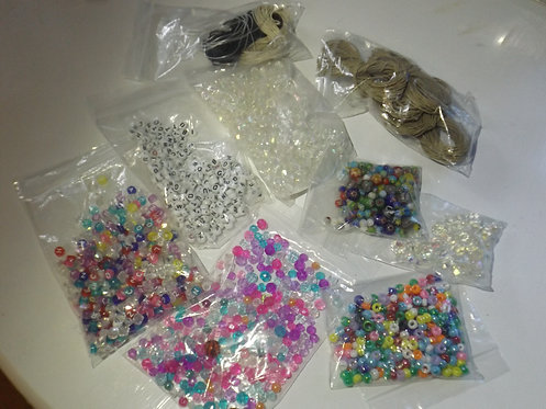 Mixed lot plastic and decorative beads