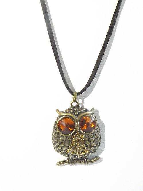 Amer Eyed Owl Necklace